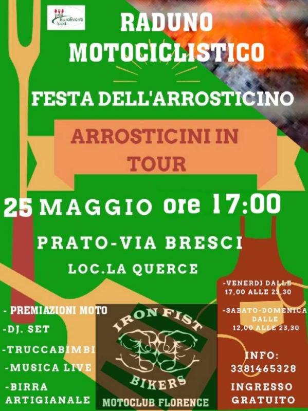 copertina evento Arrosticini in tour di Iron Fist Bikers - La Querce (PO)