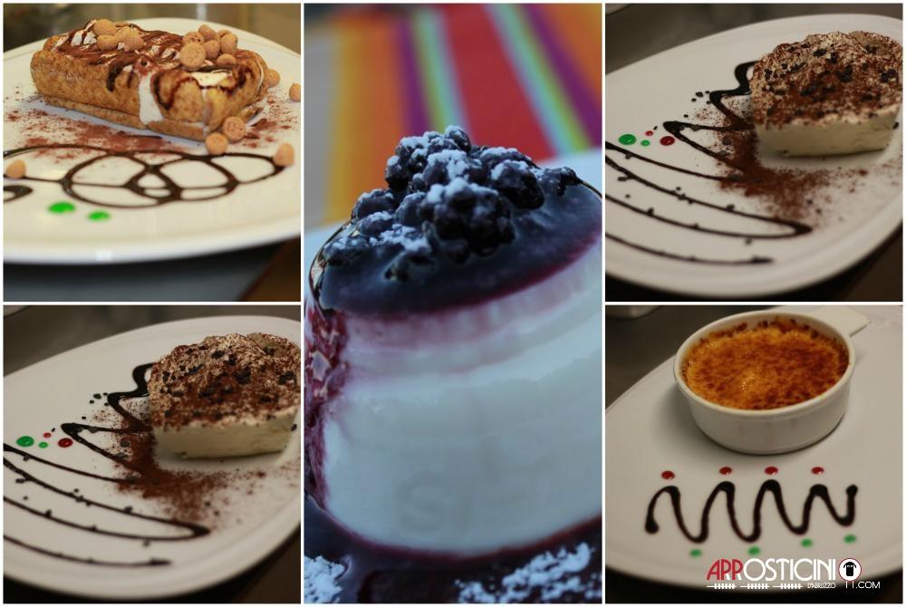 dolci tradizionali e tipici del ristorante Largo del Mulino a Tortoreto
