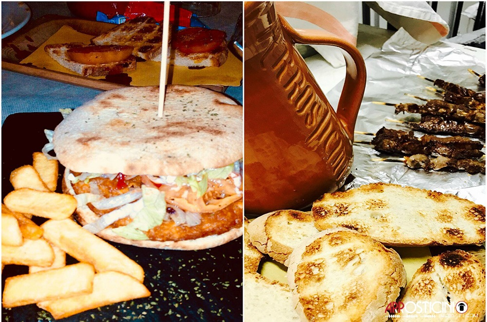 hamburger con patate fritte pane olio tostato la Maison dell'Arrostell Teramo Abruzzo