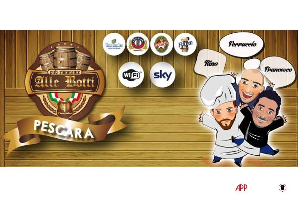 avatar caricature wi fi sky e birre alla spina del ristorante pub le Botti di Pescara 2 in Abruzzo